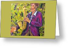 All That Jazz, Saxophone Greeting Card