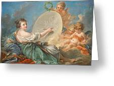 Allegory Of Painting Greeting Card