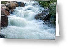 Alluvial Fan Falls On Roaring River In Rocky Mountain National Park Greeting Card