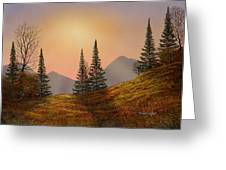 Alpine Sunset Greeting Card
