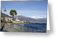 Alpine Village On The Lakefront Greeting Card