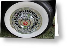 American Classic Car . Greeting Card by Max Lines
