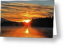 American Lake Sunrise Greeting Card