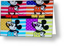 American Mickey Greeting Card