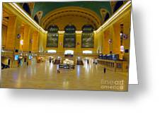 2 A.m.grand Central Station  Greeting Card