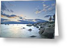 An Evening At Tahoe Greeting Card