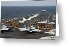An Fa-18 Hornet Launches Greeting Card