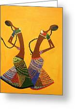 An Indian Dance Form Greeting Card by Shruti Prasad