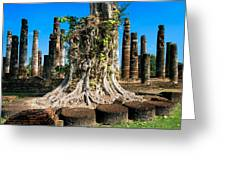 Ancient Temple Ruins Greeting Card