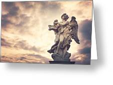 Angel In Ponte St Angelo Greeting Card