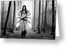 Angel In The Forest Greeting Card