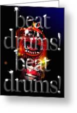 Animal Beats Drums Greeting Card