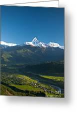 Annapurna Peak - Nepal Greeting Card by Ricardo Lisboa