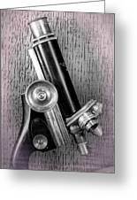Antique Microscope Greeting Card