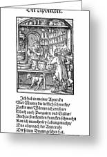 Apothecary, 1568 Greeting Card