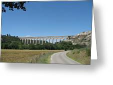 Aqueduct Roquefavour Greeting Card