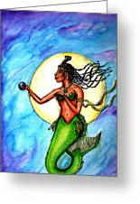 Arania Queen Of The Black Pearl Greeting Card
