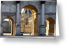 Arc De Triomphe Du Carrousel Greeting Card