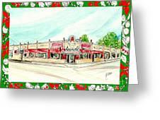 Arcade Restaurant Memphis Greeting Card