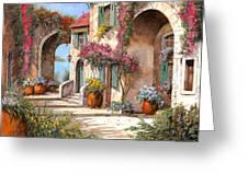 Archi E Fiori Greeting Card