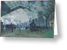 Arrival Of The Normandy Train Greeting Card