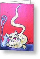 Art Cat Greeting Card