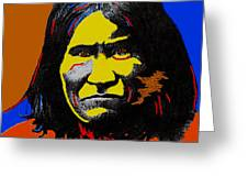Art Homage Andy Warhol Geronimo 1887-2009 Greeting Card