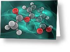 Aspirin Molecular Model Greeting Card