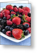 Assorted Fresh Berries Greeting Card