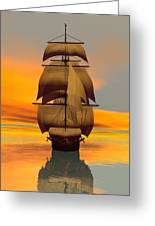 At Full Sail Greeting Card