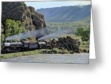At Point Of Rocks-bound For Yellowstone Greeting Card