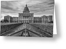 Austin Images - The Texas State Capitol At Sunrise Looking South Greeting Card