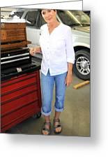 Auto Mechanic. Greeting Card
