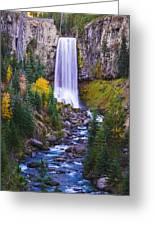 Autumn At Tumalo Falls Greeting Card