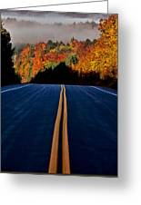 Autumn Colors And Road  Greeting Card