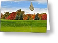 Autumn Golf Greeting Card