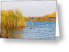 Autumn On The Dnieper River Greeting Card