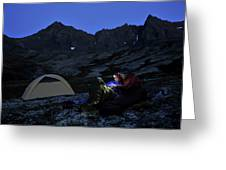 Backpacking Alaska Chugach Mountains Greeting Card