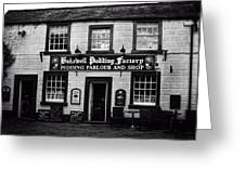 Bakewell  Pudding Factory In The Peak District - England Greeting Card