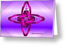 Balance And Harmony - Purple Greeting Card