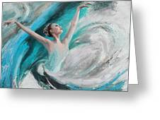 Ballerina  Greeting Card by Corporate Art Task Force