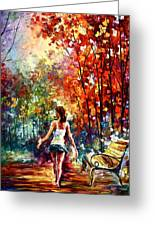 Barefooted Stroll Greeting Card