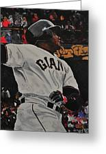 Barry Bonds World Record Breaking Home Run Greeting Card