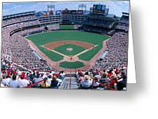 Baseball Stadium, Texas Rangers V Greeting Card