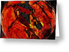Basketball Abstract Greeting Card