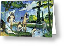 Bathers By Cezanne Greeting Card