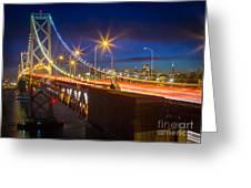 Bay Bridge Greeting Card by Inge Johnsson