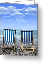 Beach Chairs Greeting Card by Joana Kruse