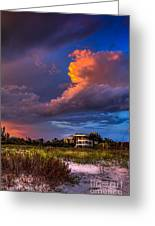 Beach Front Rain Greeting Card by Marvin Spates