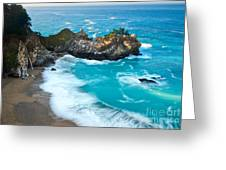 Beautiful Mcway Falls Along The Big Sur Coast. Greeting Card